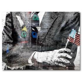 Αφίσα (αφηρημένο, κουστούμι, μαύρο, λευκό, άσπρο)